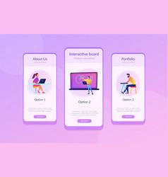 Digital classroom app interface template vector