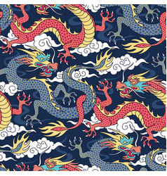 Dragons pattern vector