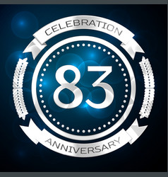 Eighty three years anniversary celebration with vector