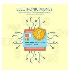 Electronic money concept vector