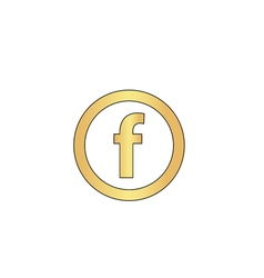 F Letter computer symbol vector image