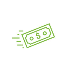 Fast send money transfer funds payment icon vector