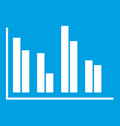 Financial analysis chart icon white vector