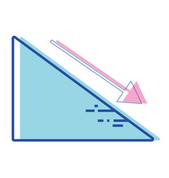 financial triangle with arrow down to business vector image vector image