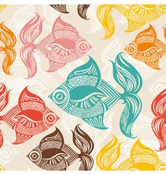 fish pattern vector image