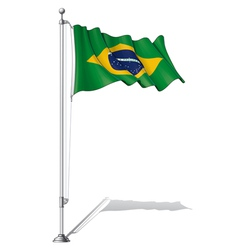 Flag Pole Brazil vector image