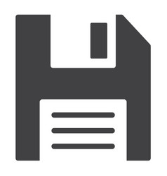 floppy disk glyph icon web and mobile diskette vector image