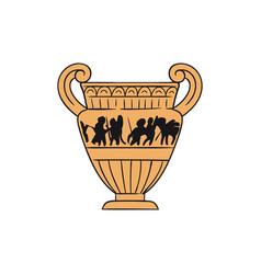Greek ancient terracotta amphora vector