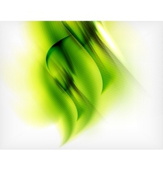 Green summer wave - business eco background vector image