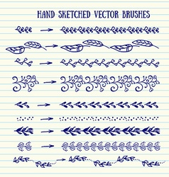 Hand sketched brushes vector