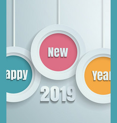 Happy new year 2019 paper cut background vector