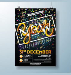 Happy new year party celebration flyer template vector