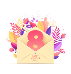 happy womens day march 8 in envelope vector image