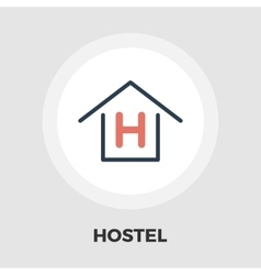 Hostel flat icon vector