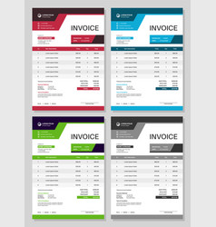 invoice form bills design accounting commerce vector image