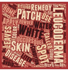 Leucoderma White Spots And Patches text background vector image