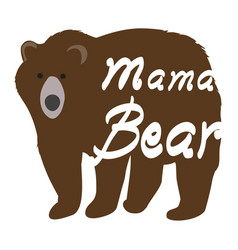 mama bear vector image