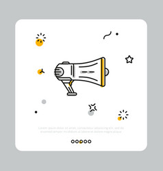 megaphone of producer in simple icon vector image