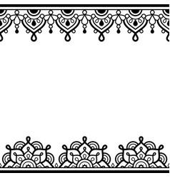 Mehndi - indian henna tattoo greetingn card vector