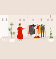 modern fashion clothes store boutique interior vector image