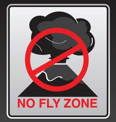 no fly zone vector image
