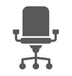 office chair glyph icon office and work vector image