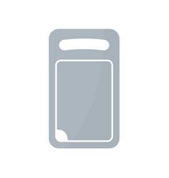 Plastic cutting board icon vector