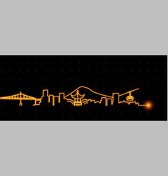 Portland light streak skyline vector