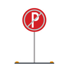 Prohibited parking car sign traffic vector