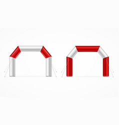 realistic detailed 3d square inflatable archway vector image