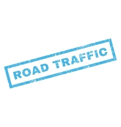 Road Traffic Rubber Stamp vector image