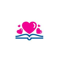 romance book logo icon design vector image