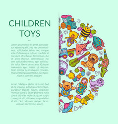 round pile of kid toys vector image