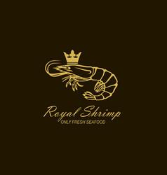 Royal shrimp label vector
