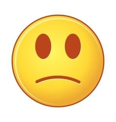 sad emoji on White Background isolated object of vector image