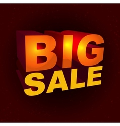 Sale label in 3d-style vector image