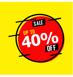 Sale up to 40 off template design vector