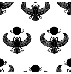 Scarab silhouette vector image