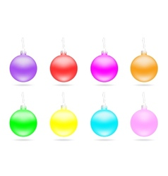 Set of multi-colored Christmas balls vector