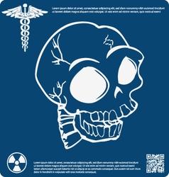 Skull X ray 1 vector