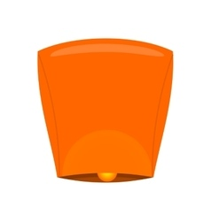Sky Lantern Isolated on White Background vector