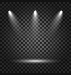 spotlights with light beams on transparent vector image