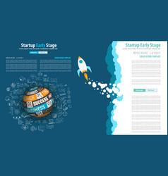 startup landing webpage or corporate design vector image