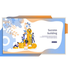 team build finance business success abstract vector image