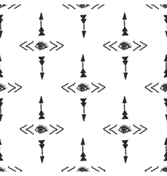 tribal arrow and eye simple scandinavian vector image