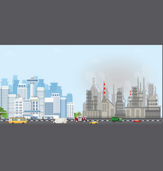 Urban city landscape with contemporary buildings vector