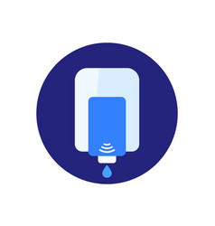 Wall dispenser with antibacterial gel icon vector