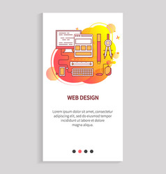 web design template pc equipment webpage vector image