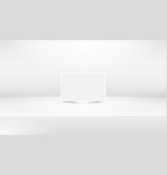 White empty abstract showroom background with vector