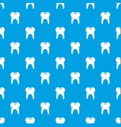 Wisdom tooth pattern seamless blue vector
